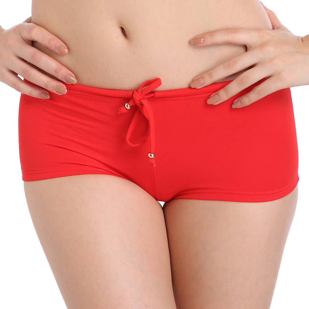 Genuine Product Ozhouzhan Bright Red Year of Fate Bikini Knicker Top Grade Nylon Tape Lining Adjustable Size Swimming Trunks