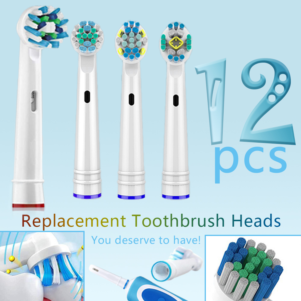 12pcs Oral b toothbrush heads Replacement Heads For Braun Oral-B Electric Toothbrus eep Sweep Vitality Clean Professional Care 5 image