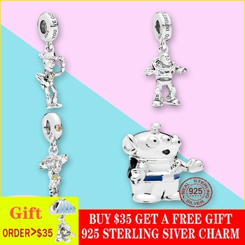 2019 New 925 Sterling Silver Beads, Toy Story Pendant Charms fit Original Brand Bracelets DIY Jewelry For Women 925 sterling silver beads toy story jessie pendant charms fit original pandora bracelets women diy jewelry