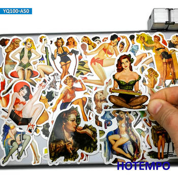 50pcs Retro Sexy Leggy Stocking Beauty Fashion Pretty Women Stickers for Mobile Phone Laptop Suitcase Skateboard Decal - discount item  30% OFF Classic Toys