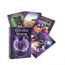 2020 뜨거운 판매 마녀 지혜 오라클 카드 보드 데크 게임 높은 품질의 파티에 대 한 재생