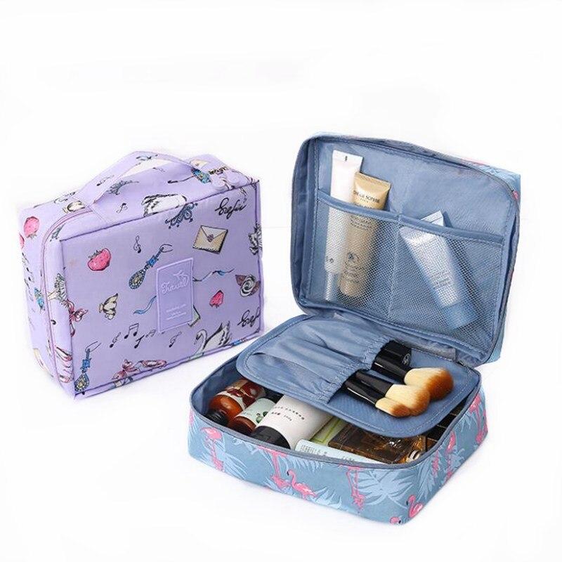 Multifunction Flamingo Travel Cosmetic Bag For Women Makeup Bags Toiletries Organizer Waterproof Female Storage Make Up Cases