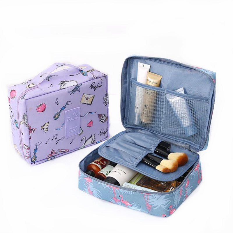 Multifunction Flamingo Travel <font><b>Cosmetic</b></font> <font><b>Bag</b></font> For Women Makeup <font><b>Bags</b></font> Toiletries Organizer Waterproof Female Storage Make Up Cases image