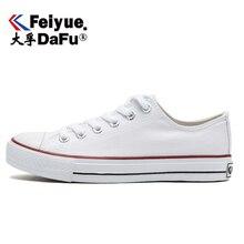 DafuFeiyue 516 klasyczne buty płócienne kobiety mężczyźni wiosna jesień białe czarne mieszkania Casual elastyczna wkładka moda buty wulkanizowane