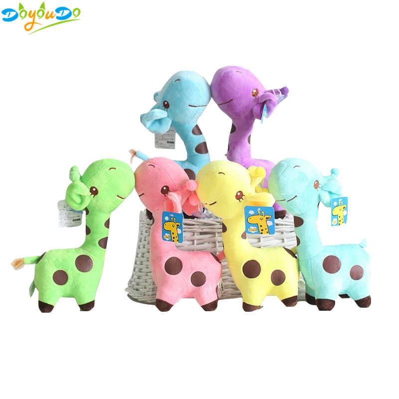 18cm Cute Baby Toys Rainbow Giraffe Plush Toys Dolls For Kids Brinquedos Kawaii Gift For Baby Christmas Gifts