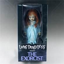 Filme estatueta horror vivo morto bonecas apresenta o exorcista terror boneca figuras de ação pvc mezco toyz coleção modelo brinquedos