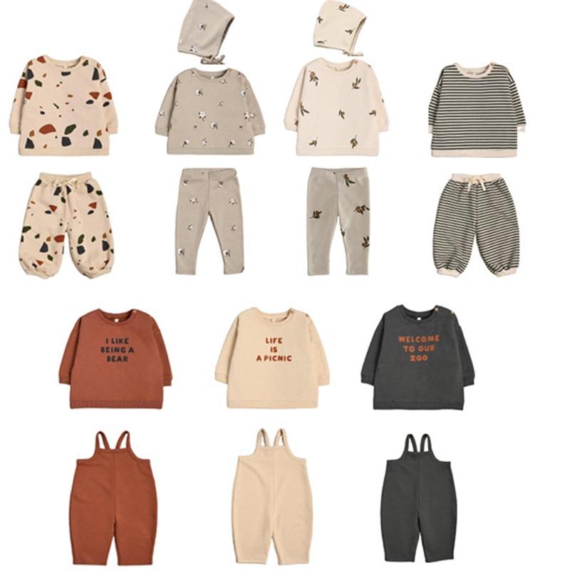 Kids Velvet Sweaters 2021 New Autumn Winter OZ Boys Girls Leter Print Sweatshirts Baby Child Tollder Fashion Outwear Clothes 1