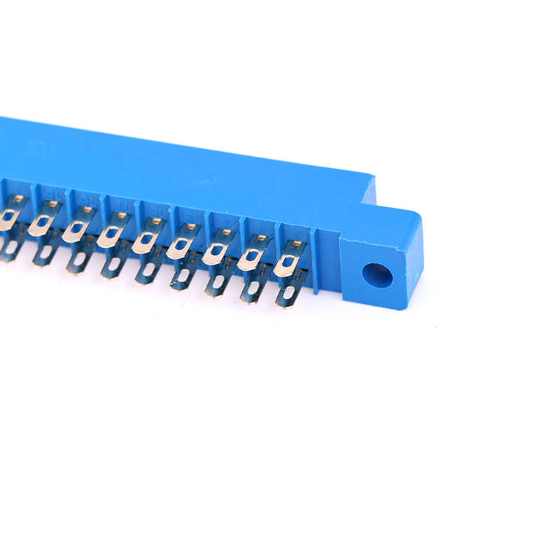 Double 2X22 broches 44 broches 3.96mm or fente soudure prise 1pc carte PCB bord connecteur