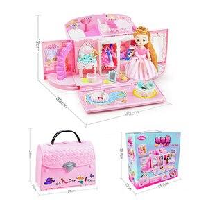 Image 4 - Bebek evi el çanta aksesuarları sevimli mobilya minyatür Dollhouse doğum günü hediyesi ev modeli oyuncak ev oyuncak bebekler çocuklar için