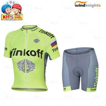 Ropa de Ciclismo para niños, Ropa de equipo profesional, Conjunto de Jersey...