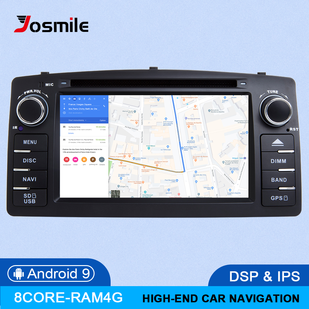 8Core DSP 4GB 64G 2 Din Android 9.0 Car DVD Player For <font><b>Toyota</b></font> <font><b>Corolla</b></font> E120 BYD F3 Car Multimedia Stereo GPS AutoRadio Navigation image
