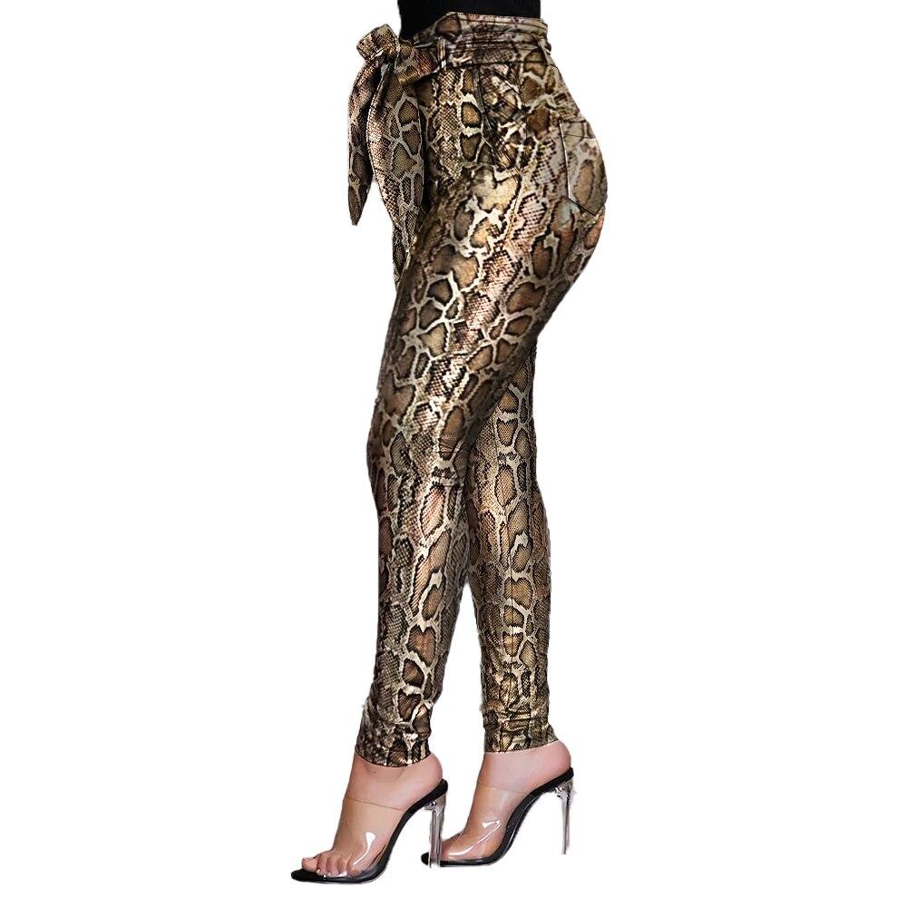 Goocheer  New Fashion Stylish Brushed Leggings Women's Leggings Vintage Serpentine Prints Stretchy Smooth Fitness Leggings