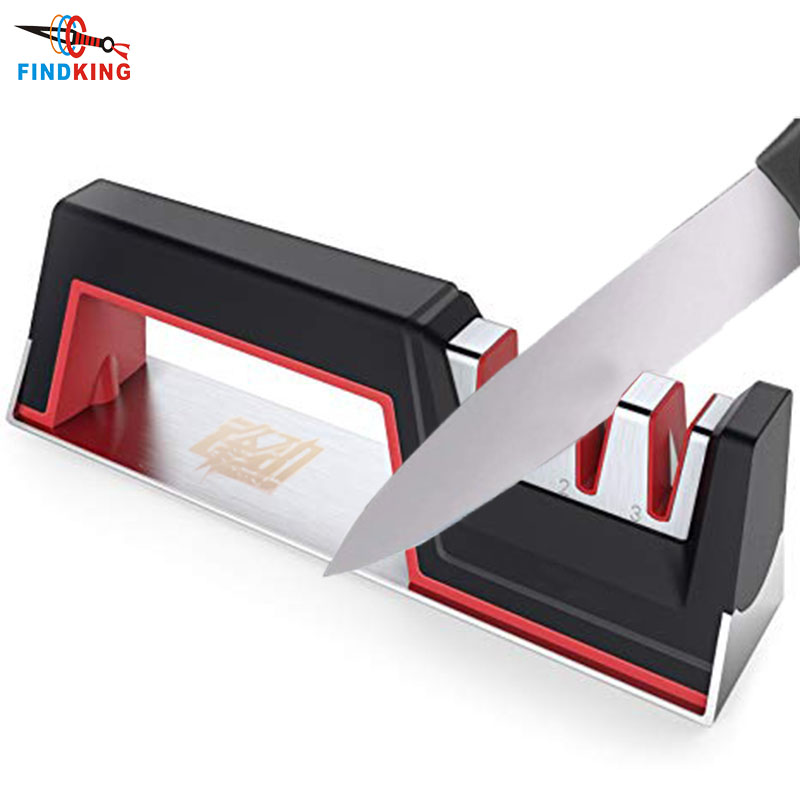 FINDKING Kitchen Knife Sharpener Scissor Tools-Stone Grinding-Accessories 3-Stage-Knives