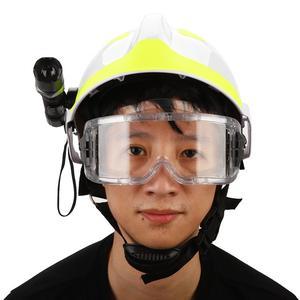 Image 2 - Capacetes de segurança de resgate de emergência anti impacto bombeiro capacete de proteção com farol e óculos de proteção
