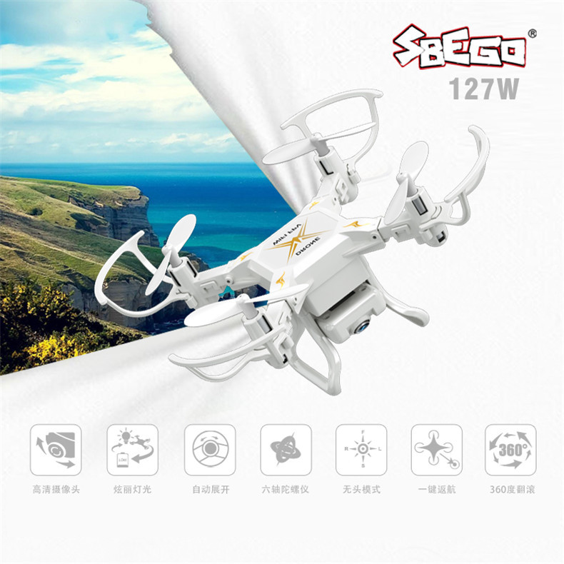 SBEGO 127W Four-axis Mini Unmanned Aerial Vehicle Folding Remote Control Aircraft WiFi Image Transmission Aircraft