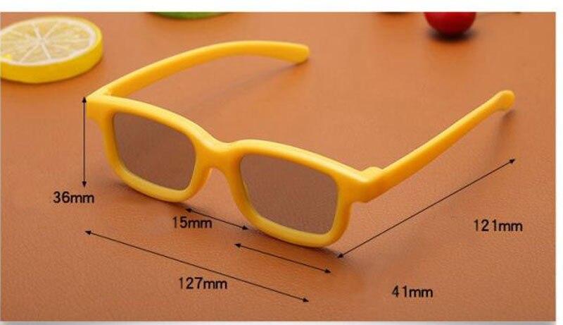Laranja CRIANÇAS 3D Óculos de Polarização Linear