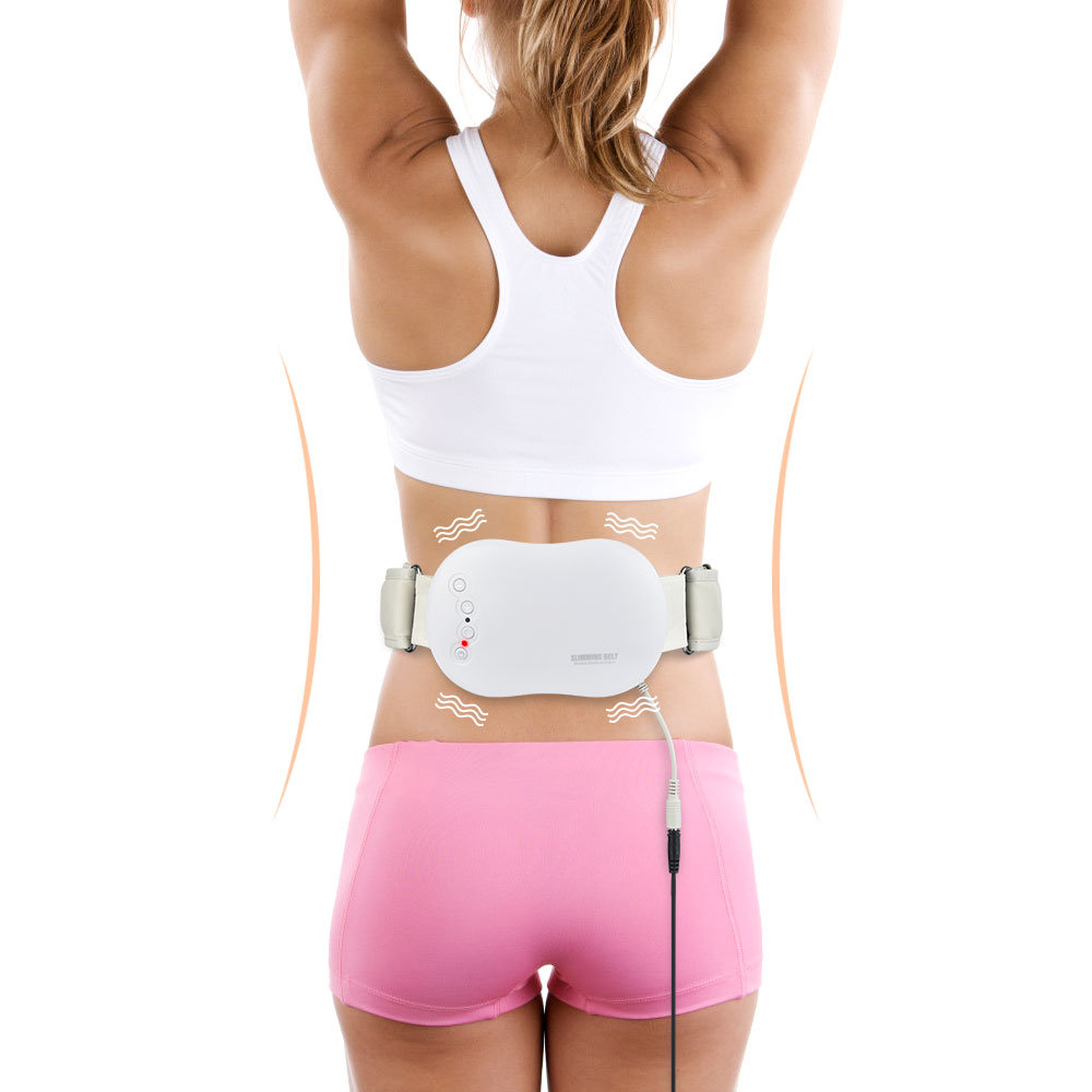 Electric Slimming Belt Lose Weight Fitness Vibrating Massager Fat Burning Vibration Waist Trainer Abdominal Belly Exercise image