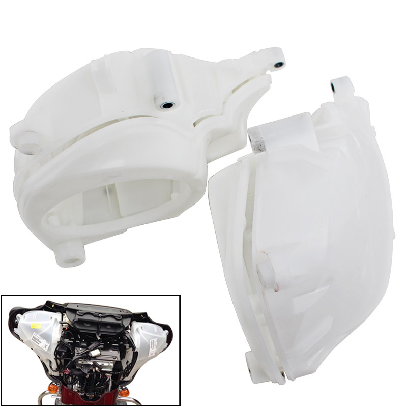 White Inner Fairing <font><b>Speaker</b></font> Covers For 2014-Up Harley Street Glide Electra Glide Ultra Limited Trike Glide Motorcycle Parts image