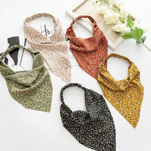 Printting Hair Scarf Scrunchies Vintage Triangle Bandanas Hairband Headband Without Clips Elastic Hair Bands Headwrap Accesories