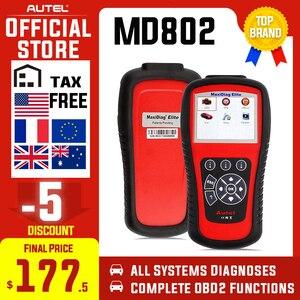 Image 1 - Outil de Diagnostic de lecteur de Code de réinitialisation de Service dhuile depb dairbag dabs dautel MD802 OBD2 Scanner EOBD pour la Transmission de moteur