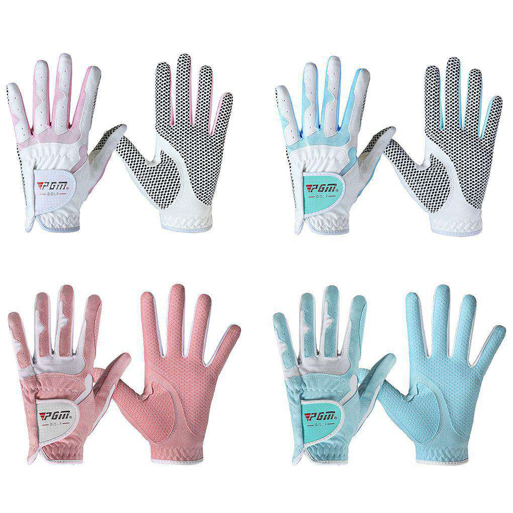 Women's Golf Gloves  Anti-slip Design Left And Right Hand  Granules Microfiber Cloth Breathable Soft Sports Gloves