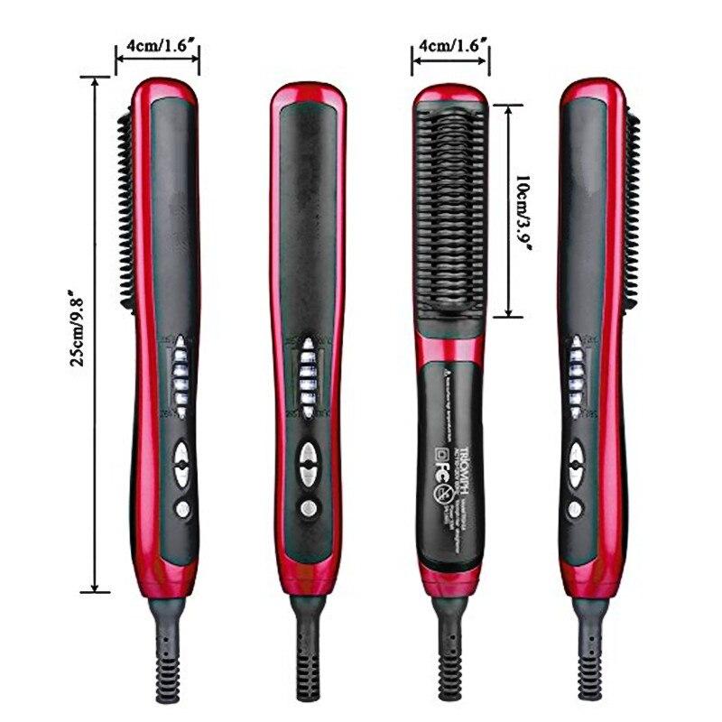 Alisador de cabelo escova pente barba multifuncional