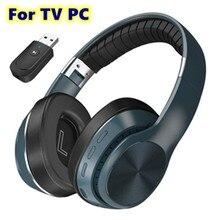 Casque de Gaming sans fil stéréo 8D, PC TV, avec micro et ordinateur portable, tablette, Bluetooth, transmetteur, 500mAh