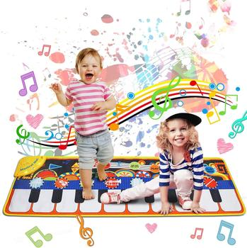 110x36cm Musical Mat Baby Play Piano Mat Keyboard Toy Music Instrument Game Carpet Music Toys Educational Toys for Kid Gifts popular musical instrument keyboard toys portable baby kids animal farm music piano developmental toy children gifts