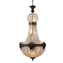 Lustre en cristal style église empire français, grand lustre ovale vintage, lampe moderne pour salon d'hôtel E14