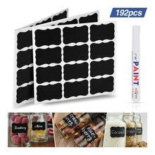 192pcs Bottle Jar Stickers Blackboard Sticker Kitchen Organizer Labels waterproof Chalkboard Spice Label Tag