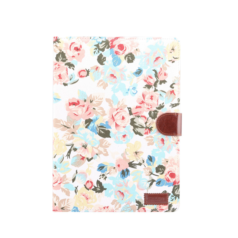 white White For iPad 10 2 2019 Smart Flowers Painted Case For Apple iPad 7th Generation A2200 A2198