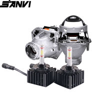 Sanvi  45W 5500k D1s D2S D3S D4S D5S D8S Auto LED Headlight Bulb With Bi xenon&LED Projector Lens for HID Upgrade
