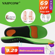 VAIPCOW High Quality EVA Orthotic Insole For Flat Feet Arch Support Orthopedic Shoes Sole Insoles For Men And Women Shoe Pads(China)