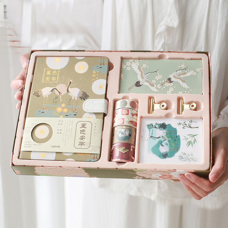Kawaii Notebook Set Journal DIY Agenda Planner Diary NoteBook With Magnetic Buckle Cute Travel Handbook With Tapes