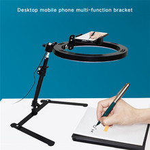Adjustable Phone Stand Tripod for Phone Holder Desktop Shooting Bracket Rotatable Overhead Stand for Ring Light Tripod Shoot