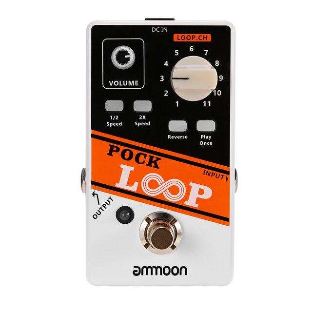 ammoon POCK LOOP Looper Guitar Effect Pedal 11 Loopers Max.330mins Recording Time guitar pedal guitar accessories guitar parts
