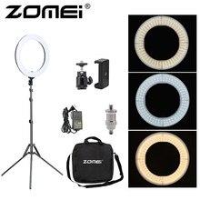 Zomei 18 pouces Dimmable éclairage photographique lumière LED de Studio vidéo lumière annulaire 3200-5600K pour téléphone intelligent maquillage Selfie lampe Youtube