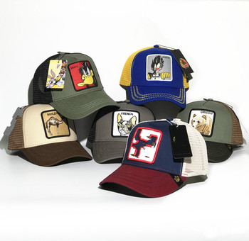 New Baseball Cap Animal Embroidery Anime Cute Summer Mesh Mens Ms. Outdoor Sunshade Truck Driver hats