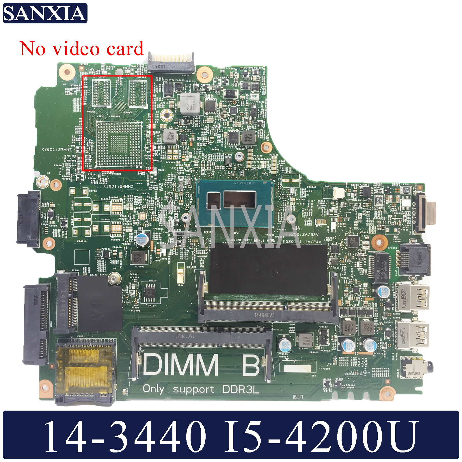 Kefu 13221-1 placa-mãe do portátil para dell latitude 3440 original placa-mãe ddr3l I5-4200U