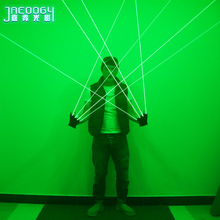 Green 532nm Power Laser Gloves Bar Nightclub Stage Performance Glowing Costume Halloween Christmas Party Lights Props thin beam 50mw 532nm green laser module room escape maze props bar dance lamp