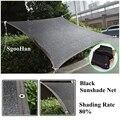 Schwarz 6-Pin Anti-Uv Sonnenschirm Net Home Garten Sukkulente Shelter Schattierung Net Außen Markise Schwimmbad Abdeckung Schatten segel