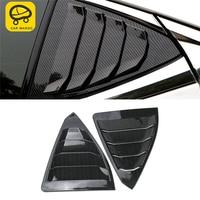 CARMANGO for Lexus ES 2018 2019 ES200 ES300 ES260 Car Rear Side Window Sunshade Cover Trim Frame Sticker Exterior Accessories