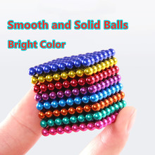 Novo neodímio metal magia diy ímã bolas magnéticas blocos 5mm cubo construção brinquedos colorfull artes artesanato brinquedo