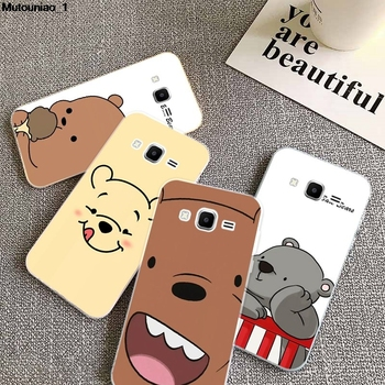 Bear 2 Silicon Soft TPU Case Cover For Samsung Galaxy Core Grand Prime Neo Plus 2 G360 G530 I9060 G7106 Note 3 4 5 8 9 image