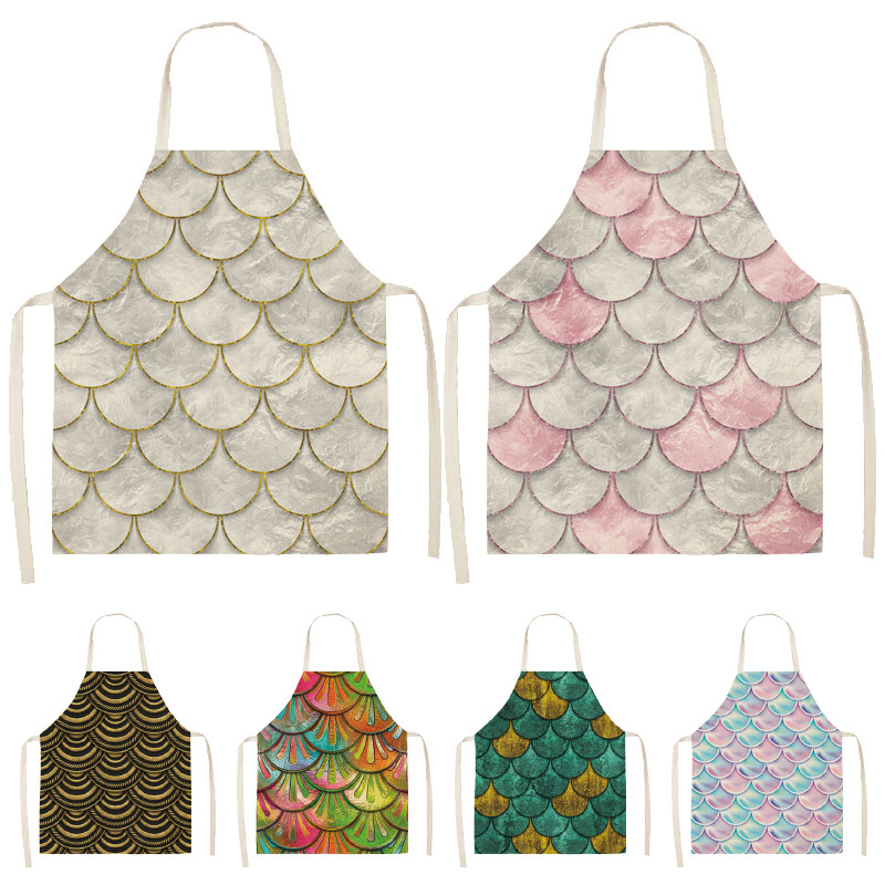 Waterproof Women Seaside Apron Kitchen Restaurant Cooking Bib Sleeveless Tool S