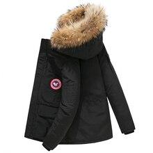 купить Canada Jacket Down Coat Men Thick Warm Duck Down Hooded Natural Fur Collar Winter Jacket Women Windproof doudoune homme casacos по цене 5516.61 рублей
