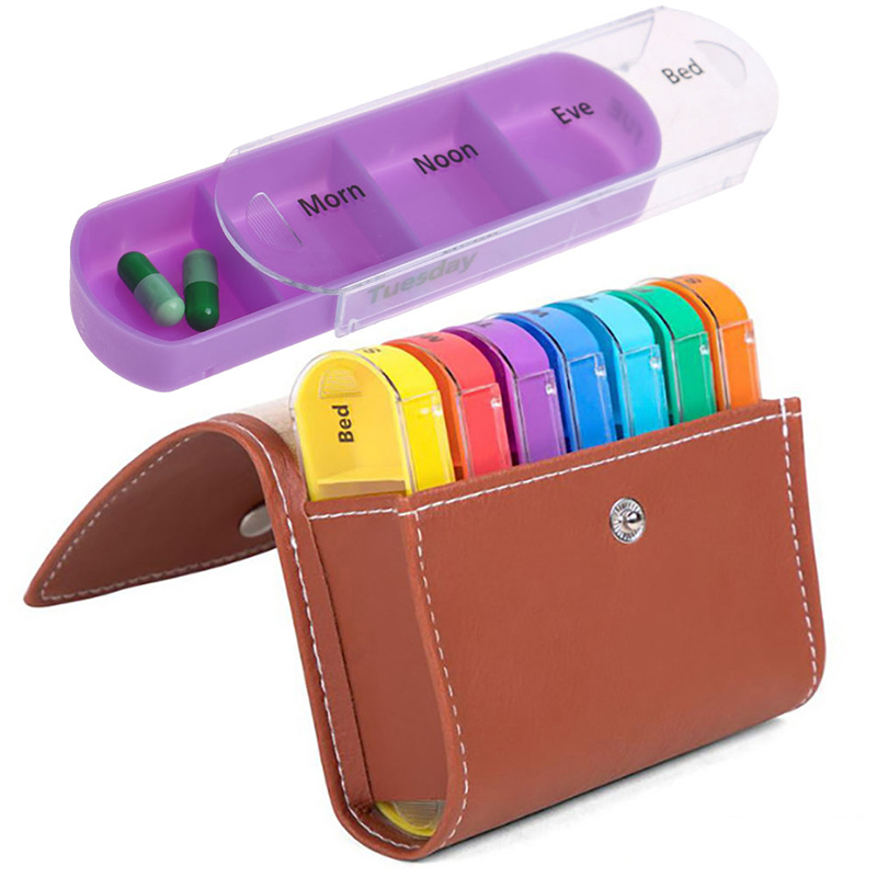 Wallet Case Organizer Pill-Box-Holder Container Medicine-Box Tablet Weekly 7-Days Hot title=