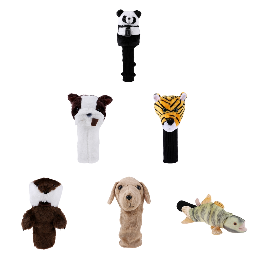 Novelty Animal Sports Golf Club Headcover Protector For 460 Cc/No.1 Wood Driver - 6 Characters