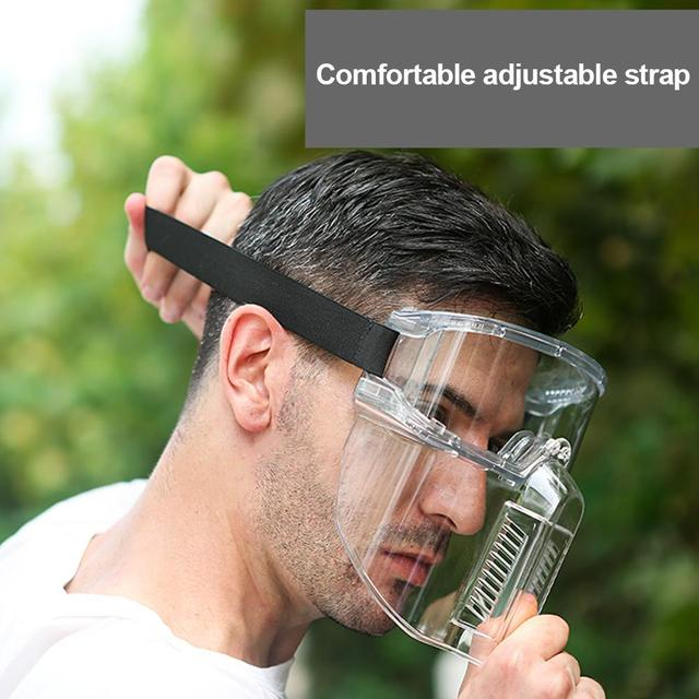 Transparent Protective Face Shield Safety Painting Face Protection Oil-Splash Saliva Proof Masks Separable Eyeglasses Eyepiece 1