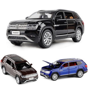 1:32 Volkswagen-Teramont Car Model Alloy Car Die Cast Toy Car Model six open Pull Back Children's Toy Collectibles Free Shipping 1set j261 stainless steel sheet model car with 4 n20 gear motor diy model car chassis frame free shipping russia australia